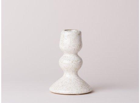 Bloomingville Kerzenhalter weiß Keramik für eine Stabkerze 11cm groß