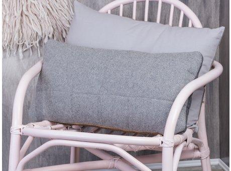 Bloomingville Kissen aus Wolle hellgrau Schurwolle grau