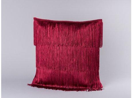 Bloomingville Kissen rot mit Fransen aus Baumwolle inklusive Füllung 40x40