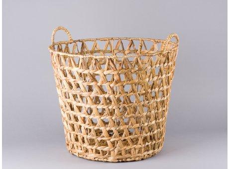 Bloomingville Korb groß mit Henkeln Wasserhyazinthe als Wäschekorb Blumentopf oder Aufbewahrung