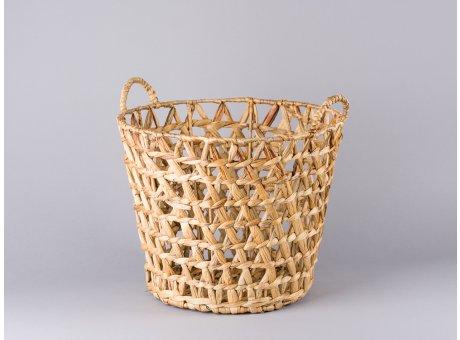 Bloomingville Korb mit Henkeln Wasserhyazinthe als Wäschekorb Zeitungskorb oder Blumentopf