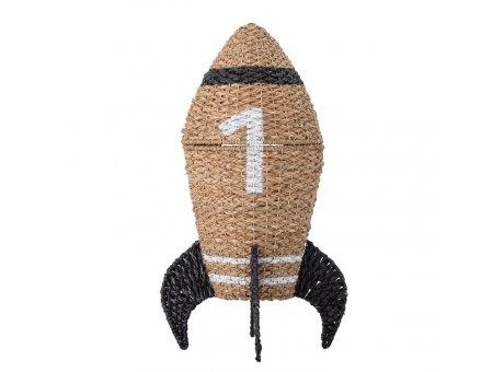 Bloomingville Korb Rakete mit Deckel Bloomingville Kids Aufbewahrungskorb Nr 82048198