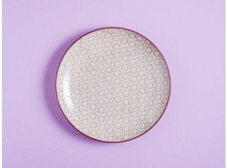 Bloomingville Kuchenteller MAYA Keramik Teller 20 cm Geschirr Frühstücksteller grau