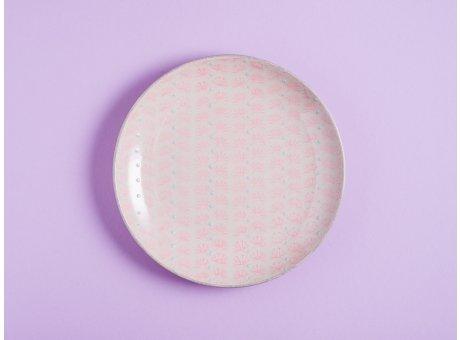 Bloomingville Kuchenteller MAYA Keramik Teller 20 cm Geschirr Frühstücksteller rosa
