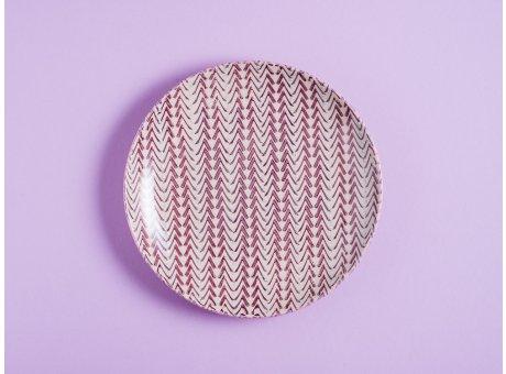 Bloomingville Kuchenteller MAYA Keramik Teller 20 cm Geschirr Frühstücksteller rot