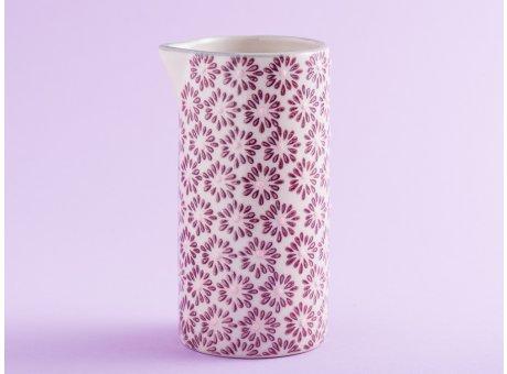 Bloomingville Milchkännchen MAYA Keramik Geschirr Kanne Blumen Design rot
