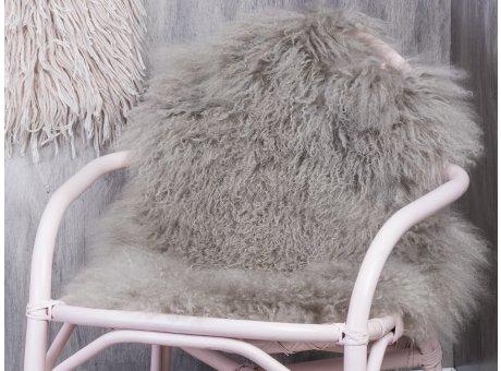 Bloomingville Mongolisches Lamm Fell hellgrau