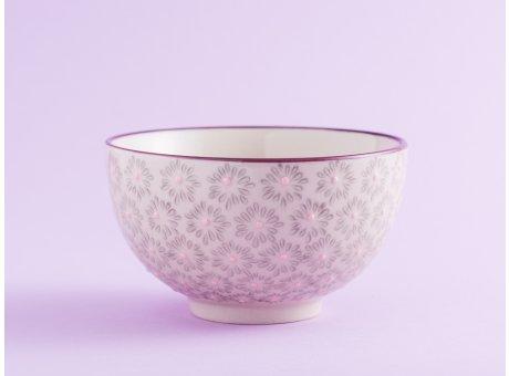 Bloomingville Müslischale MAYA Keramik Schüssel klein 0,35l Geschirr Schale grau rosa