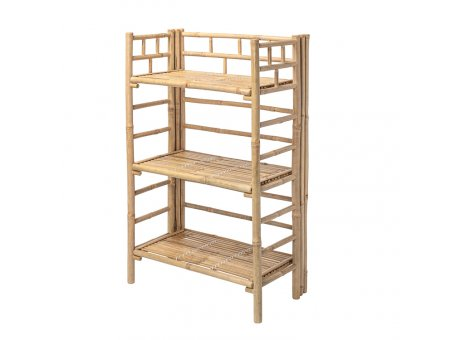 Bloomingville Regal Bambus mit 3 Böden 105x66x37 cm Bloomingville Möbel Bücherregal Nr 82040930