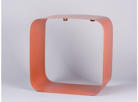Bloomingville Regal orange Metall Display Box quadratisch 30x30 cm