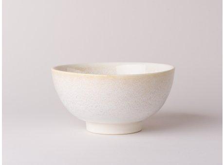 Bloomingville Schale Carrie Geschirr Serie aus Keramik in creme beige Müslischale 16,5 cm Durchmesser