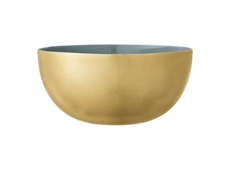 Bloomingville Schale gold grün Aluminium 20 cm