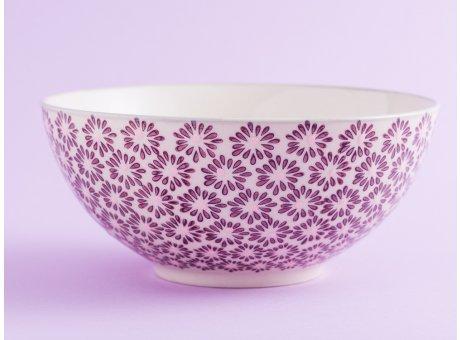 Bloomingville Schale MAYA Keramik Schüssel groß Geschirr Müslischale creme rot