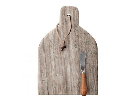 Bloomingville Schneidebrett KANI mit Messer Marmor Servierplatte Bloomingville Design Tapasbrett Nr 82050483