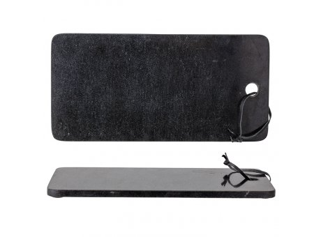 Bloomingville Schneidebrett Marmor Schwarz 23 x 46 cm mit Lederband Tapasbrett Produkt Nr. 82048846