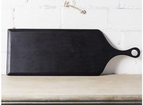 Bloomingville Serviertablett Akazie Schwarz Tapasbrett 70 cm lang 25 cm breit Akazien Holzbrett