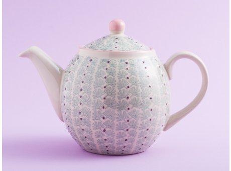 Bloomingville Teekanne MAYA Keramik Geschirr 1,2l Kanne türkis