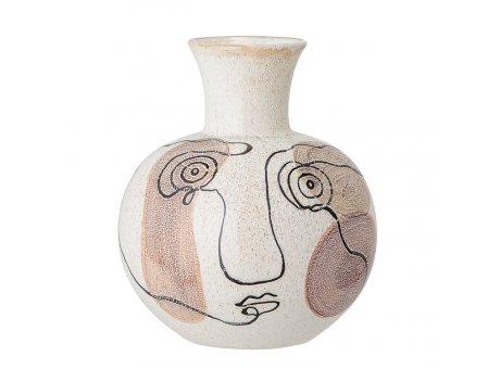 Bloomingville Vase Creme Weiß Gesicht 22 cm Keramik Blumenvase Produkt Nr 82048773