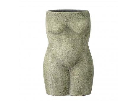 Bloomingville Vase Emeli Grün Terracotta 16 cm Bloomingville Deko Blumenvase Nr 82049565