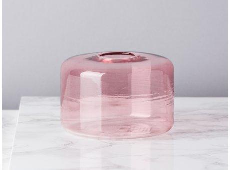 Bloomingville Vase Glas Rosa Blumenvase Zylinder 65 mm hoch Durchmesser 10 cm rund Design Modern