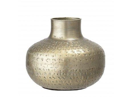 Bloomingville Vase Gold klein aus messing metall 11 cm