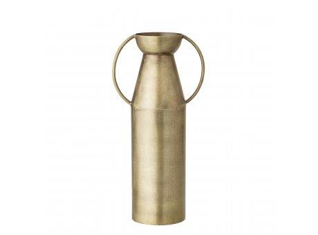 Bloomingville Vase Gold mit Henkeln schlank Blumenvase aus messing mit Griffen 24 cm hoch