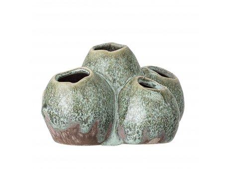 Bloomingville Vase Grün mit 5 Löchern Keramik Blumenvase 11,5 x 13,5 cm Bloomingville Produkt Nummer   82047579