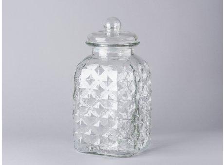 Bloomingville Vorratsglas groß mit Deckel eckig Bonbon Glas 31cm