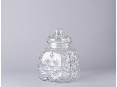 Bloomingville Vorratsglas mit Deckel eckig Bonbon Glas 23 cm