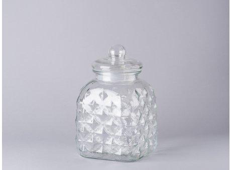 Bloomingville Vorratsglas mit Deckel eckig Bonbon Glas Aufbewahrungsdose 25,5cm
