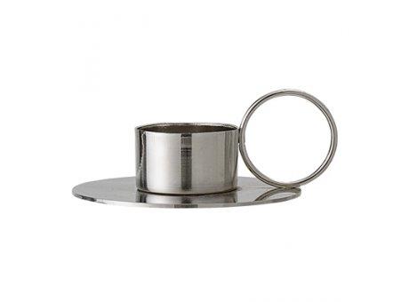Bloomingville Votive Kerzenhalter silber mit Ring Teelichthalter aus Metall