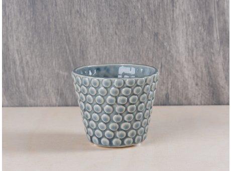 Bloomingville Votive Punkte dunkelgrau Keramik Windlicht Teelichthalter