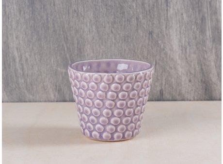 Bloomingville Votive Punkte rosa mauwe Keramik Windlicht Teelichthalter