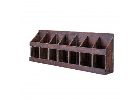 Bloomingville Wandregal Aufbewahrungsbox 7 Fächer Regal Holz 26x74 cm Querformat Bloomingville Produkt Nummer 82046298