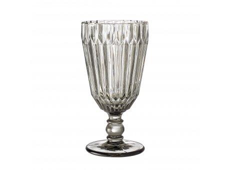 Bloomingville Weinglas Grau 210 ml Trinkglas Höhe 16 cm schweres hochwertiges Glas