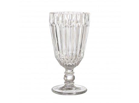 Bloomingville Weinglas Weiß 210 ml Trinkglas Höhe 16 cm hochwertiges schweres Glas