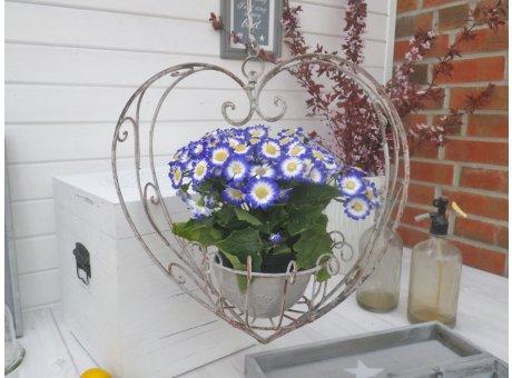 Blumentopf Hänger Herz 40 cm Blumenampel in Herzform