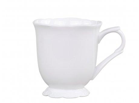 Chic Antique Becher Provence Porzellan Weiss Tasse 300 ml Geschirr Nr 63083-01
