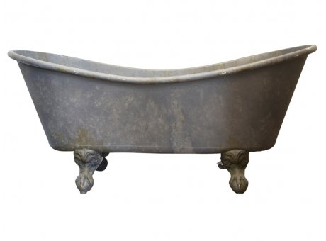 Chic Antique Deko Badewanne mit Löwenfüßen aus Metall 100 Liter Wohnraum Deko Nr 64193-00