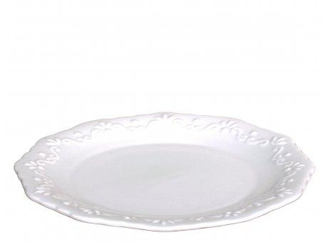 Chic Antique Dessertteller Provence Porzellan Weiss Teller 19 cm Geschirr Nr 63085-01