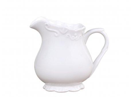 Chic Antique Milchkännchen Provence Porzellan Weiss Kanne 200 ml Geschirr Nr 63089-01