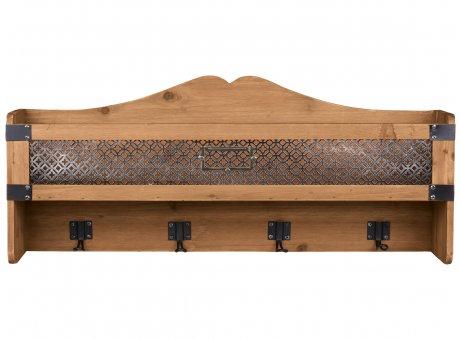 Chic Antique Regal mit 4 Haken Holz 30x70 cm Wandregal Nr 41492-00