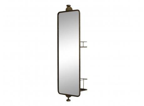 Chic Antique Spiegel mit Regal Gold Antik 25x80 cm Wandspiegel Nr 22223-13