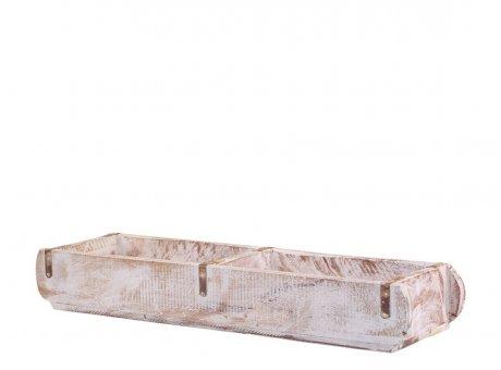Chic Antique Ziegelform Unika Weiß Doppelt Holz Kiste Zweikammer Chic Antique Backstein Form nr 41368-01