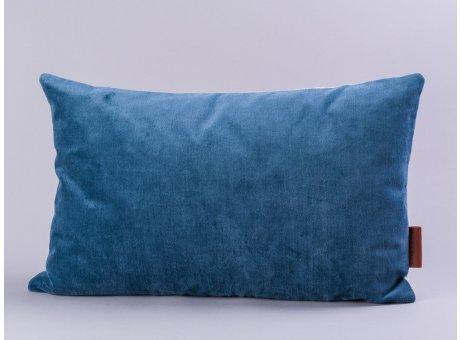 Cozy Living Kissen 30x50 Samt dunkelblau inklusive Inlett