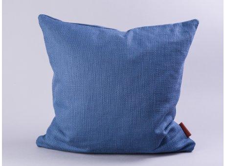 Cozy Living Kissen 50x50 dunkelblau inklusive Inlett Kissenhülle Baumwolle blau Füllung Federn