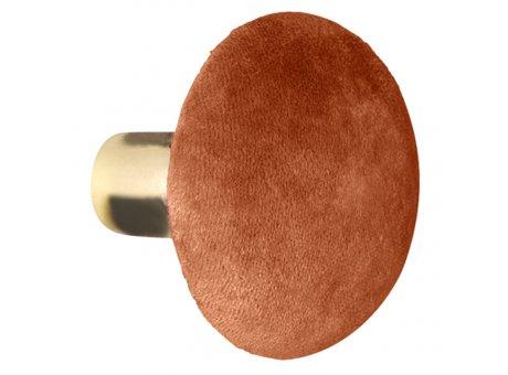 Cozy Living Kleiderhaken Helene Medium Samt Spice Orange gold 8 cm Durchmesser Garderobenhaken mittlere Größe