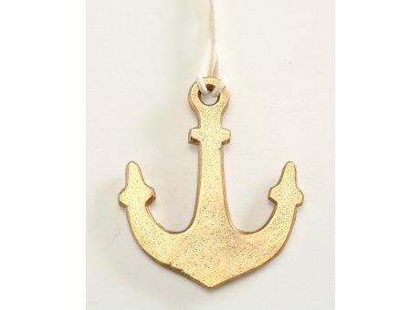 Deko Anker gold Hänger 13 cm aus Aluminium Maritime Deko