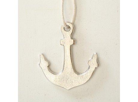 Deko Anker silber Hänger 11 cm aus Metall Maritime Deko