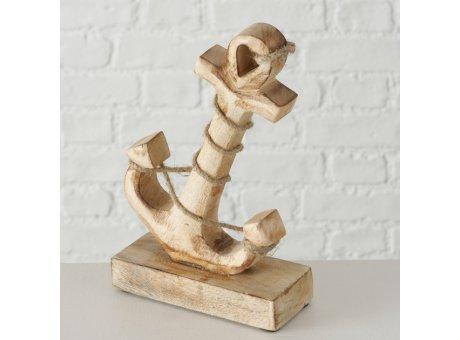 Deko Aufsteller ANKER Holz 21 cm Stockanker mit Tau Maritime Deko